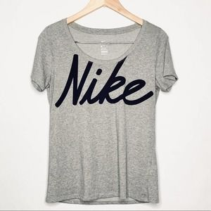 Nike scoop neck women's graphic dri fit tee